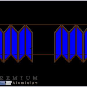 Aluminium Sliding Folding Stacking Door 10 Panel Bronze Vistafold