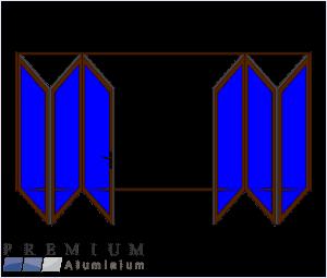 Aluminium Sliding Folding Stacking Door 6 Panel Bronze