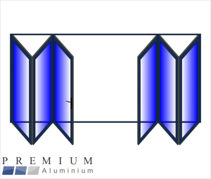 Aluminium Sliding Folding Stacking Door 6 Panel Charcoal