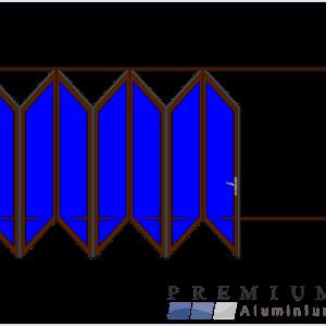 Aluminium Sliding Folding Stacking Door 7 Panel Bronze Left