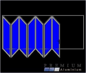 Aluminium Sliding Folding Stacking Door 7 Panel Natural Left