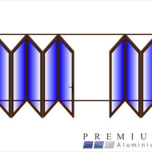Aluminium Sliding Folding Stacking Door 8 Panel Bronze Left