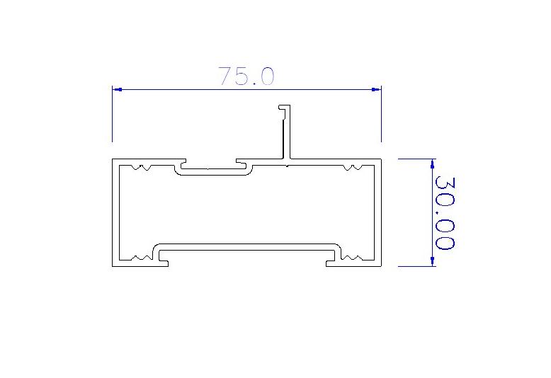 Clip44 Rectangular Frame Back 75mm 26B