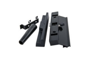 Aluminium Patio door handle-black keep stopper