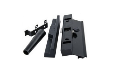 Aluminium Patio door handle-black keep stopper
