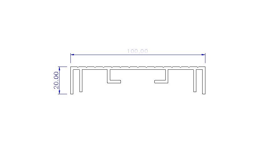 Aluminium Sign Section 100mm Profile